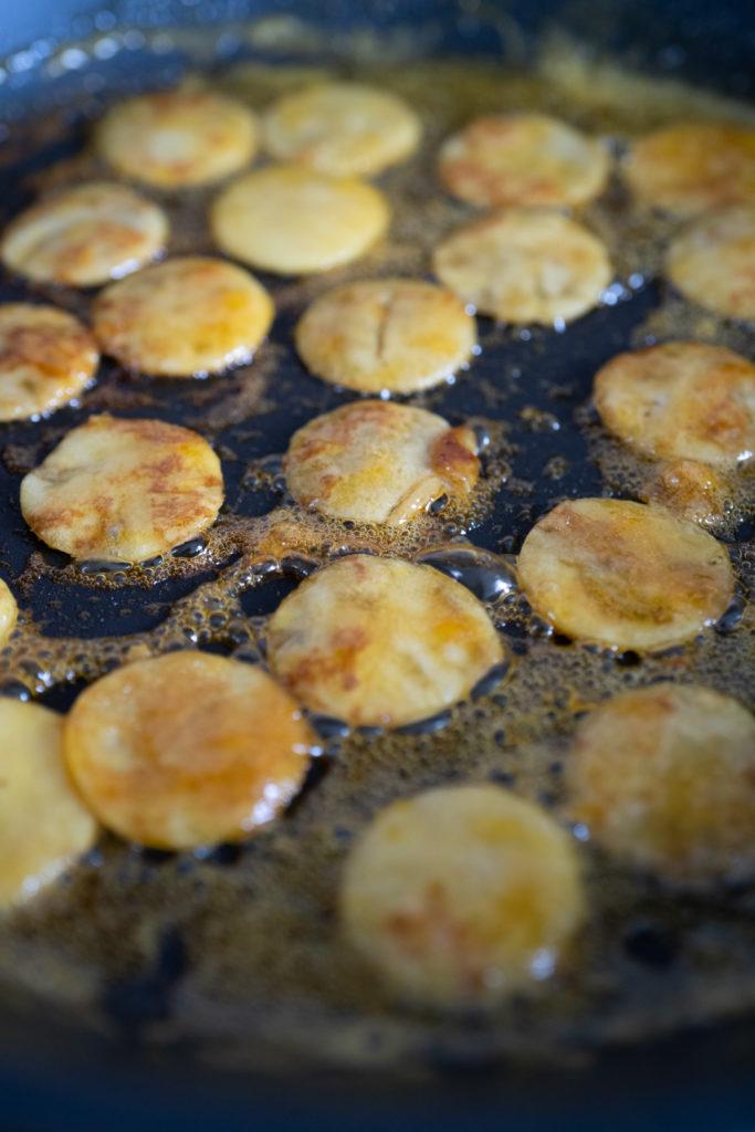 Caramélisation des crêpes