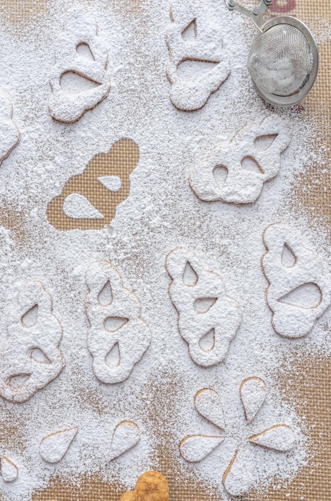 Étapes réalisation biscuits sablés forme nuage au citron et bergamote
